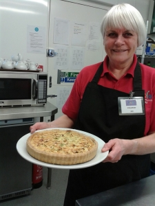 Jan's delicious leek and mature cheddar quiche